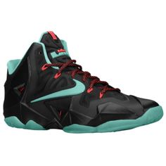 quality design 4f955 45847 Nike LeBron 11 - Mens - Lebron James - BlackLight CrimsonJade  GlazeDiffused Jade
