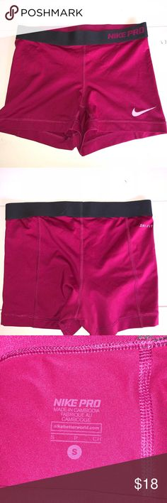🌺Women's Nike Pros!🌺 Magenta Nike Pros in EUC! Bundle with my other Nike listing to save in shipping!! Nike Shorts