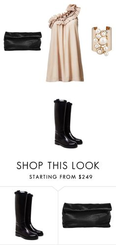 """Untitled #926"" by elenekhurtsilava ❤ liked on Polyvore featuring H&M, Ann Demeulemeester, Elie Saab and Marie Turnor"