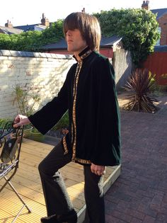 Velvet tunic in green. Inspired by Mr Fish - Clifford St / London