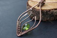 Copper wire wrapped necklace by EnikoFenyvesiJewelry, €28.00