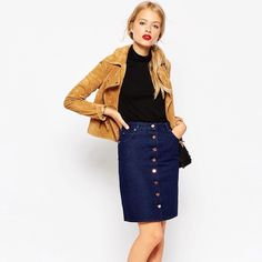 NWT ASOS DENIM SKIRT Stylish ASOS skirt. Perfect for any occasion. ASOS Skirts A-Line or Full