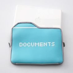 Inspired by computer icons this Documents Laptop Sleeve by 25togo is part geeky fun and part func...