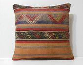 oversized floor pillow 20x20 pillow slip cover colourful cushion handmade cushion cover moroccan cushion bohemian pillow kilim pillow 16595