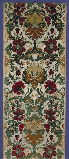 Velvet, probably made in Genoa, Italy 1650-1700