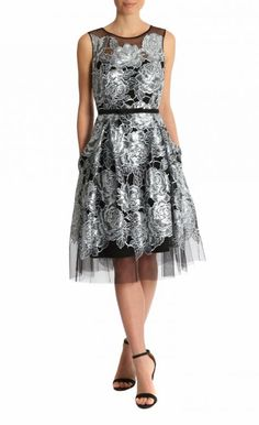 Ice Blue Sequin Tulle Dress   Anthea Crawford