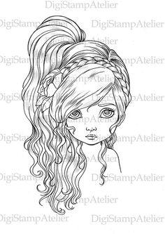 Flower Girl. INSTANT DOWNLOAD Digital Digi by digistampatelier