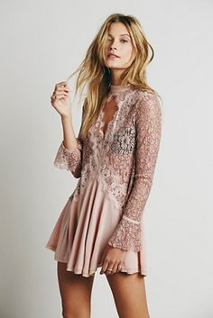 Free People Secret Origins Pieced Lace Tunic #FreePeopleDresses #ValentinesDayStyle