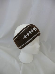 Football Headband - earwamer on Etsy, $15.00  Perfect for football games :) even my brother looks good in this one!!