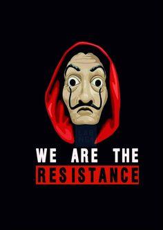 Money Heist Dali Mask Digital Download we are the Resistance tv show La Casa de Papel Netflix show