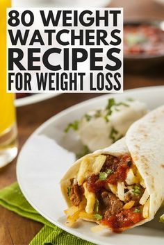 If you're on the Weight Watchers diet, there are delicious meals you can enjoy as a compliment to your weight loss efforts. We've rounded up 80 of our favorite Weight Watchers recipes with points / smartpoints, with delicious options for breakfast, lunch, dinner, and snacks. If you prefer make ahead meals you can throw into your crockpot, or would rather put together weekly meal plans, we have you covered! #weightwatchers #weightloss #healthyrecipes #weightlossrecipes