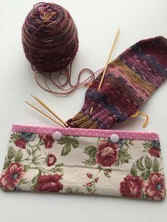 Double Pointed Knitting Needle Cozy - Crochet Hook Holder - DPN Pouch - Needle Cozy - Needle pouch - Sock Knitting Holder - Sock knitting by LowlandOriginals on Etsy Double Pointed Knitting Needles, Sock Knitting, Crochet Hooks, Pouch, Cozy, Fabric, Bags, Knitting Socks, Tejido