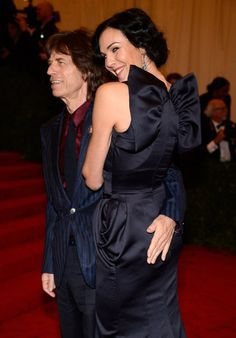 Cheeky Mick - literally.   L'Wren Scott at the Met Gala