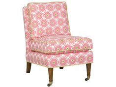 Armless Chair 3352 - Vanguard Furniture. Not this fabric. 4 chairs, each with a different print fabric.
