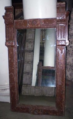 Architectural mirror made from antique moldings