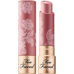 Natural Nudes Lipstick Too Faced ($22) ❤ liked on Polyvore featuring beauty products, makeup, lip makeup, lipstick, too faced cosmetics and creamy lipstick #beautymakeupnatural