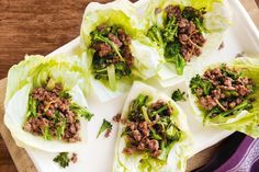 Embrace the change in weather with quick and easy lamb lettuce cups, packed with fragrant herbs and fresh vegies.