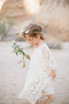 #SGWeddingGuide : We are head-over-heels in love with the adorable #boho inspired #flowergirl outfit!