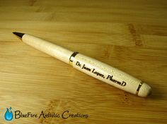 Personalized Pen Custom Engraved Pen Wood Pen by BlueFireEngraving, $8.95