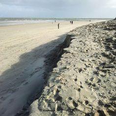 Duinen weggeslagen door de wind en hoog water 22 oktober 2014