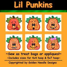 Lil Punkins Collection - Machine Embroidery Designs