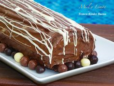 Miel y Limón : TRONCO KINDER BUENO I Love Chocolate, Recipes From Heaven, Cake Pops, Nutella, Mousse, Bakery, Pudding, Ice Cream, Cupcakes
