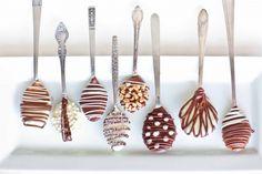 Como Fazer Colheres de Chocolate - http://coisasdamaria.com/como-fazer-colheres-de-chocolate/