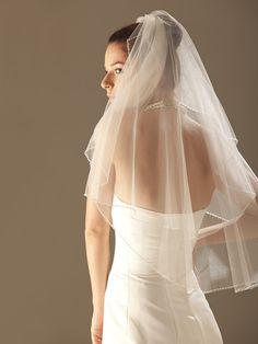 Two Layer Elbow Wedding Bridal Veil - GBP £14.59