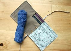 Instant PDF File For Knitting Needle Case Tutorial. Holds needles galore