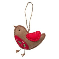 Felt Robin Christmas Decoration Love robins they just look Christmassy to me haha