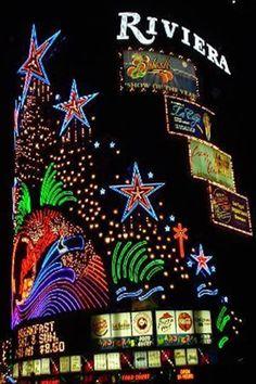The Riviera ~ Las Vegas, Nevada Vegas Casino, Las Vegas Strip, Las Vegas Nevada, Casino Night, Casino Hotel, Snow In La, Vintage Neon Signs, Casino Theme Parties, Travel Usa