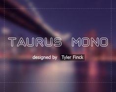 Taurus Mono - free font