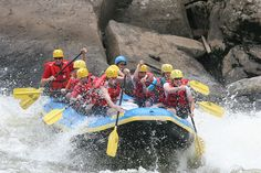 Rafting is a great way to learn basic physics! What goes up, must come down; with a splash!