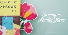 Printable Spring Bloom Bookmark by Design is Yay