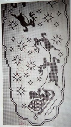 Mary, Joseph, and Baby Jesus Filet Crochet Reversed Pattern Crochet Christmas Decorations, Christmas Crochet Patterns, Thread Crochet, Crochet Doilies, Doily Patterns, Embroidery Patterns, Cross Stitch Embroidery, Cross Stitch Patterns, Filet Crochet Charts