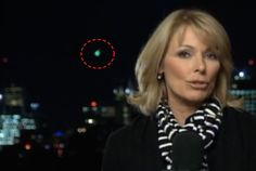 UFO SIGHTINGS DAILY: Green UFO Falls From Sky Behind Live News Broadcas...
