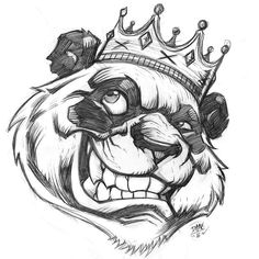 The final pencils for that panda King piece that was sold a little while ago. Really happy with how this one came out definitely one for the upcoming Table Scraps Volume 2!  #panda #art #pencil #drawing #customart #bear #art #pandaart #daynehenry #romidion #king #crown #tablescraps2 #romidiontablecraps #sketchbook by daynehenry