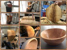 Schale aus Kirschholz drechseln, woodturning 16.05.15 Le