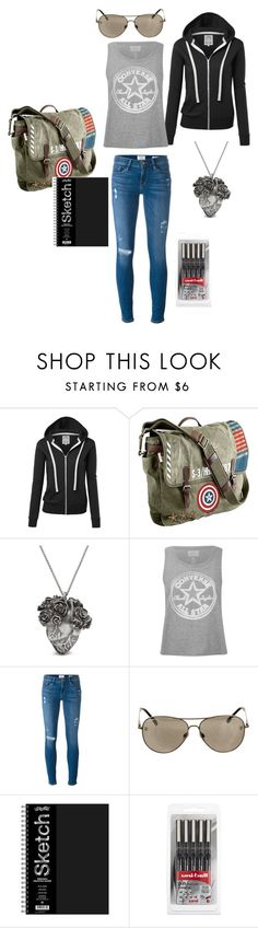 """""""Chasing Heroes"""" by alexandra-barclay on Polyvore featuring Marvel, Mulberry, Converse, Frame Denim and Chanel"""