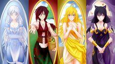 RWBY Maidens: The Four Seasons (Weiss as Winter, Ruby as Spring, Yang as Summer, Blake as Autumn/Fall)