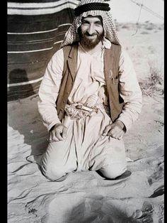 زايد في شبابه Sheikh Zayed bin Sultan Al Nahyan, 1918-2004, by Wilfred Thesiger,1948.