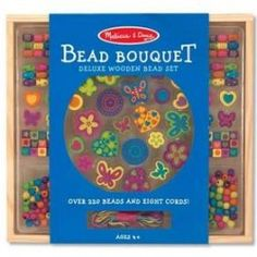 Make your own jewellery with the Melissa and Doug Bead Bouquet. There are 220 hand crafted wooden beads in various shapes in this set. Beaded Bouquet, Baby Shop Online, Melissa & Doug, Make Your Own Jewelry, Free Fun, Baby Crafts, Diy Birthday, Craft Kits, Gifts For Boys
