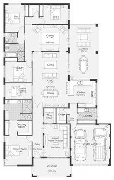 Home Layout Plans 749286456725575756 - Archipelago I Display Home – Lifestyle Floor Plan Source by Dream House Plans, Modern House Plans, House Floor Plans, Dream Houses, Kitchen Floor Plans, Bedroom Floor Plans, The Plan, How To Plan, Home Design Plans