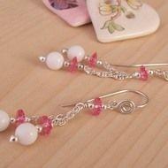 Summer Rose Silver drop Earrings