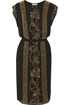 DAY Birger et Mikkelsen Night Goldie embellished crepe dress | NET-A-PORTER