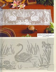 filet häkeln Gardine curtain crochet -  free crochet pattern on website  ;O)