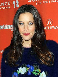 Liv Tyler--example of oblong face shape, and ideas for flattering hair and makeup