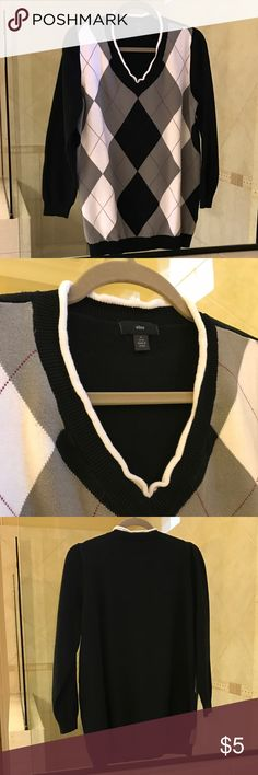 Ellos sweater size 14/16 Good used condition. Collar is a bit wrinkly, as shown in the pictures. 3/4 length sleeves. Ellos Sweaters Crew & Scoop Necks