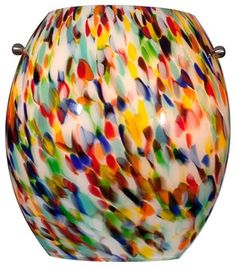 "Multi-Color Art Glass 8"" High Wall Sconce contemporary-wall-sconces $49.98"