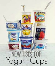 Discover six new uses for yogurt cups in your home. | www.inspirationformoms.com #sixonsaturday #newusesforthings #yogurtcups